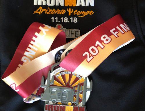 Un coyotito en el Ironman de Arizona 2018